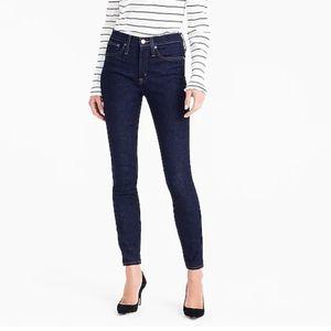 "Jcrew dark wash Toothpick jeans size 28"""